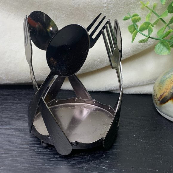 Yankee Candle Silver Spoon Fork Candle Holder